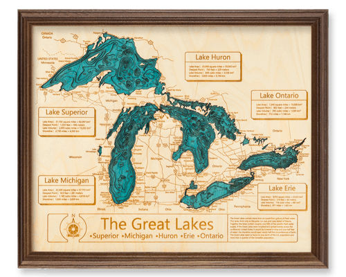 Dark Oak Wooden Lake Maps
